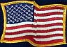 Martial Arts Accessories Patch USA Flag Gold
