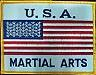 Martial Arts Accessories Patch USA Flag Martialart