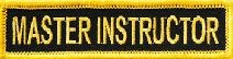 Martial Arts Accessories Patch Iron On Master