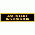Martial Arts Accessories Assistant Instructor Uniform Patch