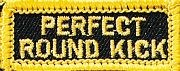 Martial Arts Accessories Patch Iron On Roundhouse