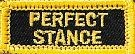Martial Arts Accessories Patch Iron Perfect Stance