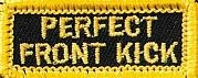 Martial Arts Accessories Patch Iron On Front Kick