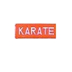 Martial Arts Accessories Patch Karate Kanji