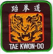 Martial Arts Accessories Patch Taekwondo Tiger