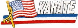 Martial Arts Accessories Patch USA Flag Karate