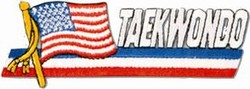 Martial Arts Accessories Patch USA Flag Taekwondo