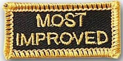Martial Arts Accessories Patch Most Improved