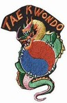 Martial Arts Accessories Patch Taekwondo Dragon