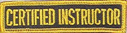 Martial Arts Accessories Patch Certified Instruct