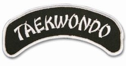Martial Arts Accessories Patch Taekwondo Arch