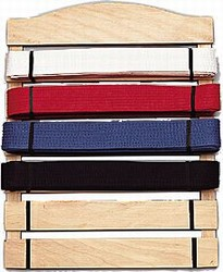 Martial Arts Accessories Rank Belt Display Six