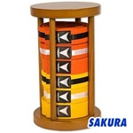 Martial Arts Accessories Rank Belt Display Round Ten 10 Belt Levels
