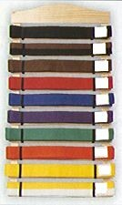 Martial Arts Accessories Ten Rank Belt Display