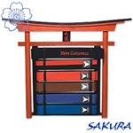 Martial Arts Accessories 6 Rank Belt Display Torii
