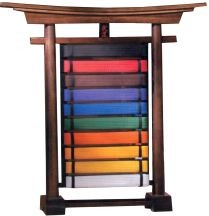 Martial Arts Accessories Torii Rank Belt Display