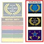 Martial Arts Accessories Master Rank Belt Display