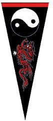 Martial Arts Accessories Pennant Yin Yang Dragon