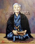 Martial Arts Accessories Painting Gichin Funakoshi