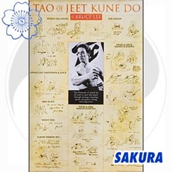 Martial Arts Accessories Poster. Bruce Lee Tao of Jeet Kune Do Poster Print.