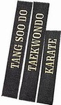 Martial Arts Belt Deluxe Black Belt Embroidered