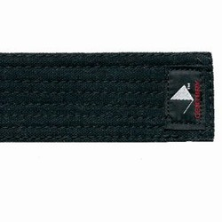 Martial Arts Belt Deluxe Black Belt Cotton Brushed