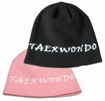 Martial Arts Clothing Hat Beanie TKD Script