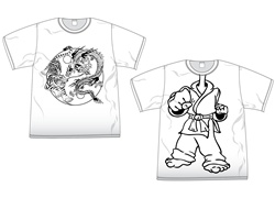 Martial Arts Clothing Shirt T-Shirt Coloring