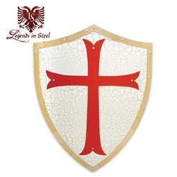 Martial Arts Supplies Medieval shield Constructed from solid cold hard steel with full color accents