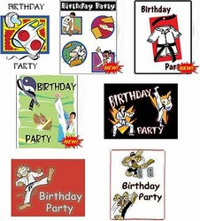 Martial Arts Novelties Birthday Invitations