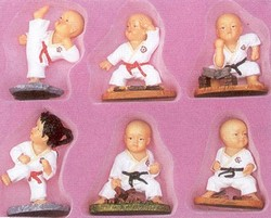 Martial Arts Novelties Figurine Set Karate