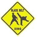 Martial Arts Novelties Parking Sign Blackbelt
