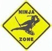 Martial Arts Novelties Parking Sign Ninja Zone