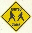 Martial Arts Novelties Parking Sign Jujitsu Zone