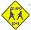 Martial Arts Novelties Parking Sign Kempo Zone