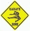 Martial Arts Novelties Parking Sign Karate Zone