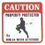 Martial Arts Novelties Parking Sign Ninja Protect