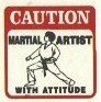 Martial Arts Novelties Parking Sign Caution Artist
