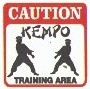 Martial Arts Novelties Parking Sign Caution Kempo