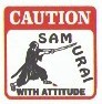 Martial Arts Novelties Parking Sign Samurai