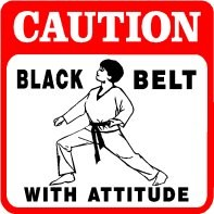 Martial Arts Novelties Parking Sign Caution BB