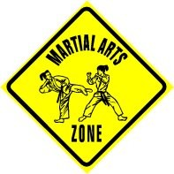 Martial Arts Novelties Parking Sign MA Zone