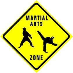 Martial Arts Novelties Parking Sign Zone Martial
