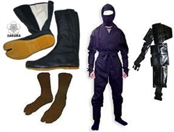 Martial Arts Supplies Package Ninja Ninjutsu Halloween Costume Authentic real Ninja suit outfit.