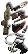 Martial Arts Supplies Package Authentic Real Ninja Weapons Sets