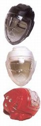 Martial Arts Protect Gear Headgear Clear Shield