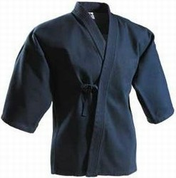 Martial Arts Uniform Navy Kendo Keikogi Top Jacket