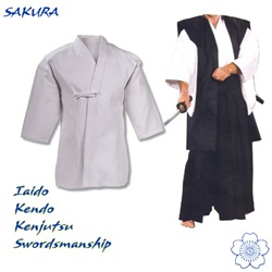 Martial Arts Uniform White Iaido Kenjutsu Swordsmanship Kendo Keikogi Top
