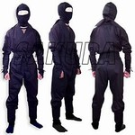 Martial Arts Uniform Ninja Ninjutsu Shinobi Warrior uniform or Halloween outfit suit costume Authentic real Ninja suit outfit.