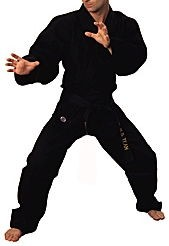 Martial Arts Uniform Judo Jujutsu Aikido Black